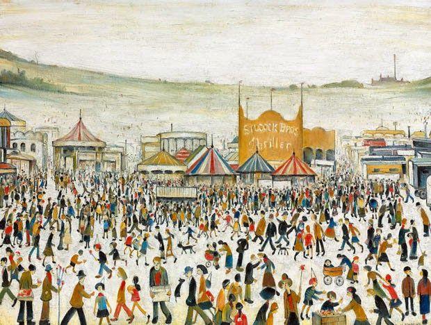 L.S. Lowry. Fun Fair at Daisy Nook, 1953
