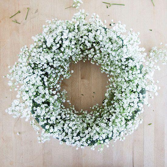1000 Ideas About Babys Breath Wreath On Pinterest Baby