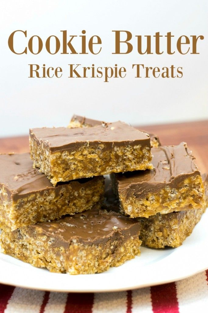 Cookie Butter Rice Krispie Treats! Can't wait to try this dessert recipe!