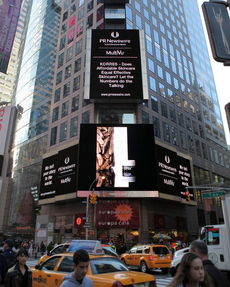 7th Avenue & Broadway; a story about the brand's antiageing innovation on the Reuters screen / 2010
