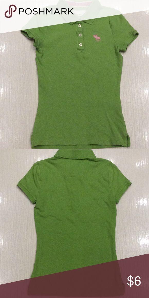 GIRLS Abercrombie Polo Shirt Size Small Girls Abercrombie lime green polo shirt. Nice condition. Size Small. Abercrombie Shirts & Tops Polos