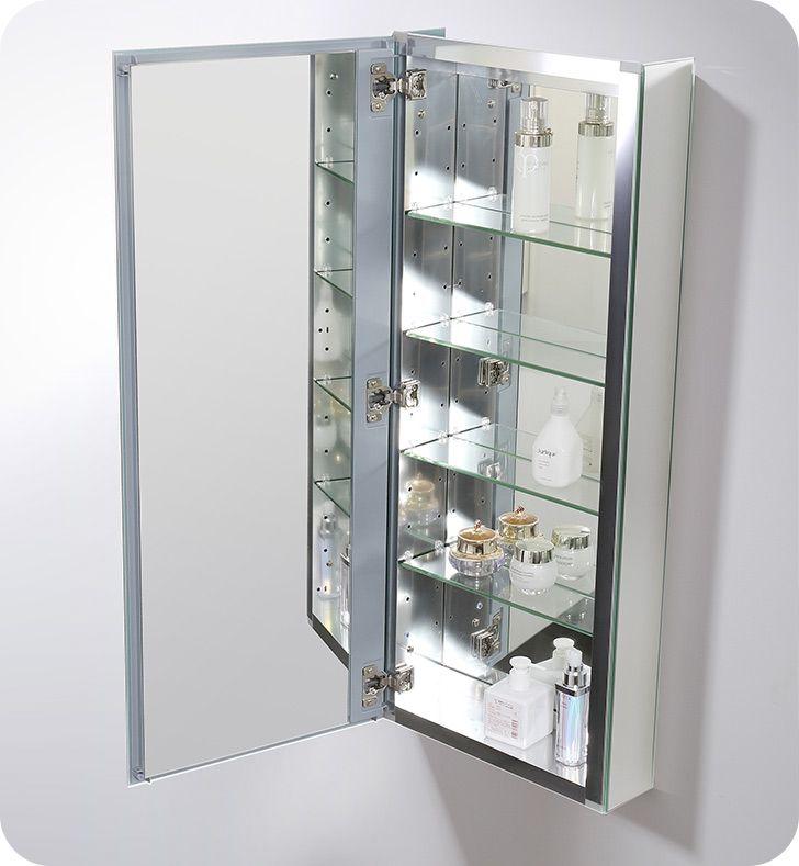 Fresca Fmc8016 15 Wide X 36 Tall Bathroom Medicine Cabinet With Mirrors Recessed Medicine Cabinet Bathroom Medicine Cabinet Adjustable Shelving