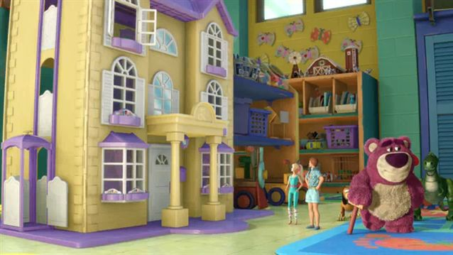 Pixar Wiki Toy Story 3 Kens Dream House is the toy house in the Butterfly Room at Sunnyside Daycare that Ken lives in. It appears in Toy Story 3. When the main toys arrive at Sunnyside, Lotso, who is Ken's master and the leader of the toys at Sunnyside, calls to him to meet them, and Ken comes down in his elevator to greet them.