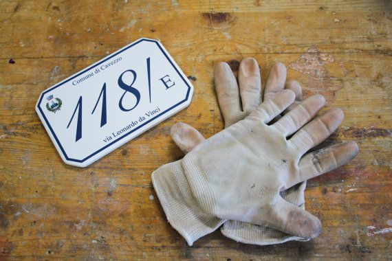 Custom House numbers by FotoceramicheOnline on Etsy