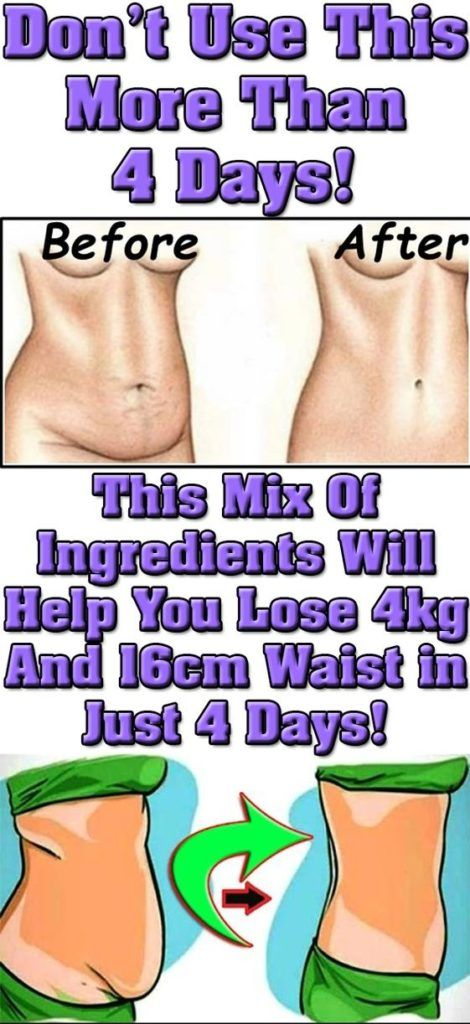 DON'T USE THIS MORE THAN 4 DAYS! THIS MIX OF INGREDIENTS WILL HELP YOU LOSE 4 KG AND 16 CM WAIST IN JUST 4 DAYS | Woxtips