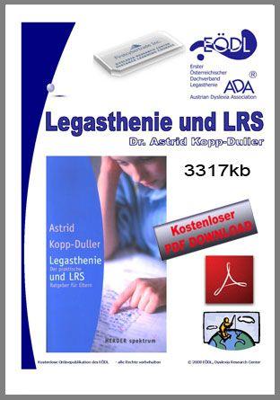 Der EÖDL präsentiert hier wissenschaftliche Arbeiten kostenlos zu den Themen Legasthenie, LRS, Dyskalkulie.