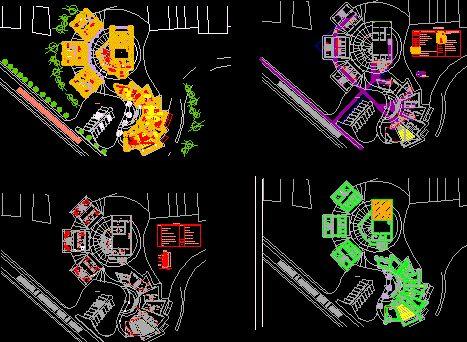 Plan Autocad dun centre de recherche anthropologique dwg | Génie civil et Travaux Publics Engineering
