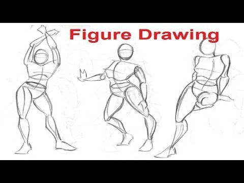 Figure Drawing Lessons 1/8 - Secret To Drawing The Human Figure. Video advanced