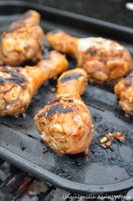 une aiguille dans l' potage: Pilons de poulet aux épices cajun