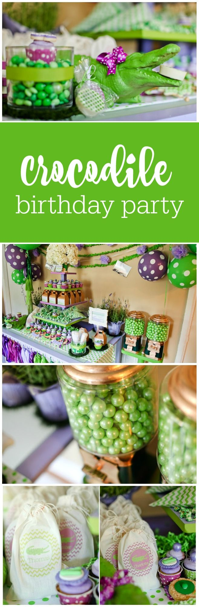 Darling crocodile birthday party by Party Box Designs featured on The Party Teacher | http://thepartyteacher.com/2013/07/15/guest-party-giveaway-party-box-design-crocodile-party/
