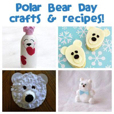 International Polar Bear Day is February 27th! Plenty of polar bear crafts and recipes to be had.