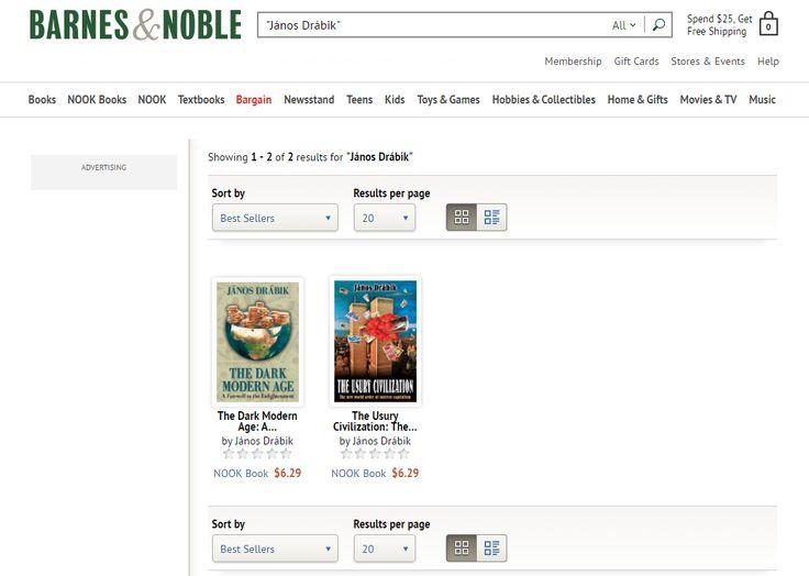 Drábik János Barnes and Noble e-könyvei angolul - http://www.barnesandnoble.com/s/%22J%C3%A1nos%20Dr%C3%A1bik%22?Ntk=P_key_Contributor_List&Ns=P_Sales_Rank&Ntx=mode+matchall