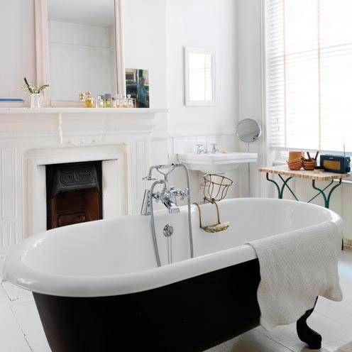Fireplace + Bathroom