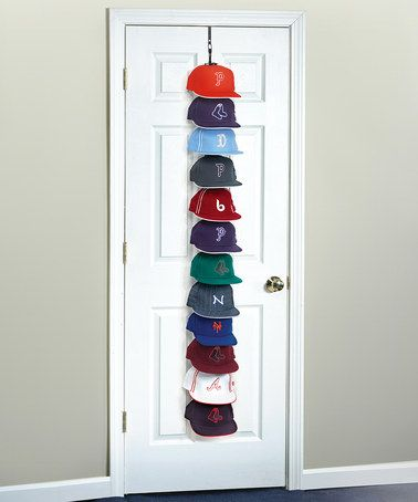 this is a must have for my husband.  Look at this #zulilyfind! Large Over-the-Door Hanging Hat Rack #zulilyfinds
