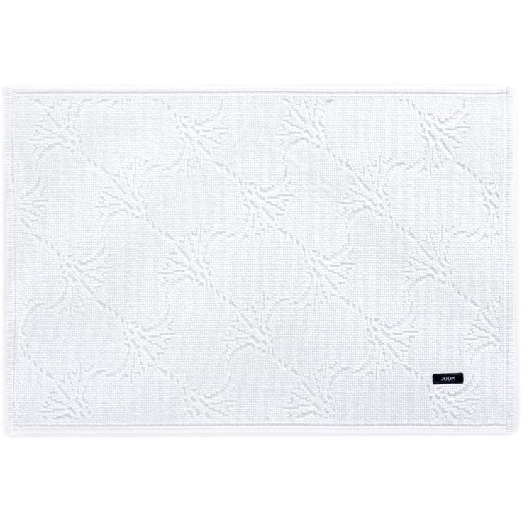 Biały dywanik JOOP! CORNFLOWER - eleganckie dywaniki - NieMaJakwDomu
