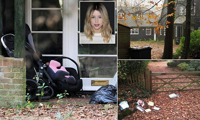 Prams and children's toys lie abandoned at tragic Peaches Geldof's deserted country home which appears untouched since her heroin overdose death seven months ago