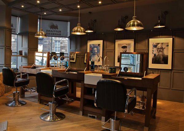 Retro barber interior google search barber design for Barber shop interior designs ideas