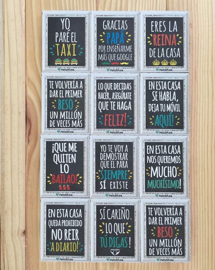 Frases divertidas, estrofas de canciones o algunas normas para la casa. Escoge la que más te guste. #patidifusa #iman #nevera