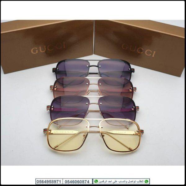 نظارات قوتشي رجاليه Gucci مع جميع الملحقات و بنفس الاسم Glasses Fashion Sunglasses Glasses