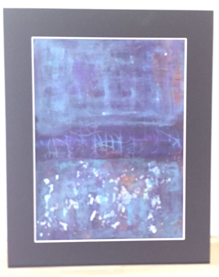 Blå toner passepartout 40x50cm