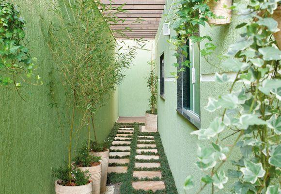 Resultado de imagem para casa decoração corredor externo