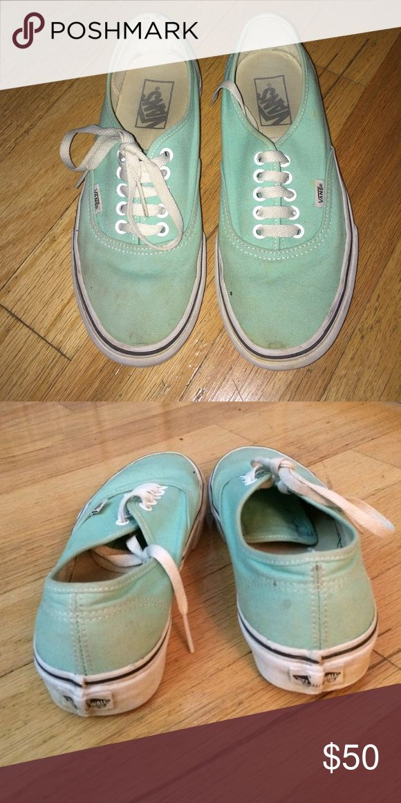 Mint vans Mint vans, a few stains but otherwise clean and I'm sure can be cleaned up! Vans Shoes Sneakers