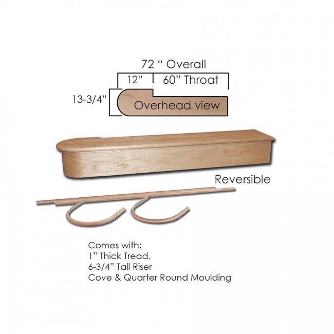 Best 8010 60 60 Single Starting Step Stair Treads Wood 400 x 300