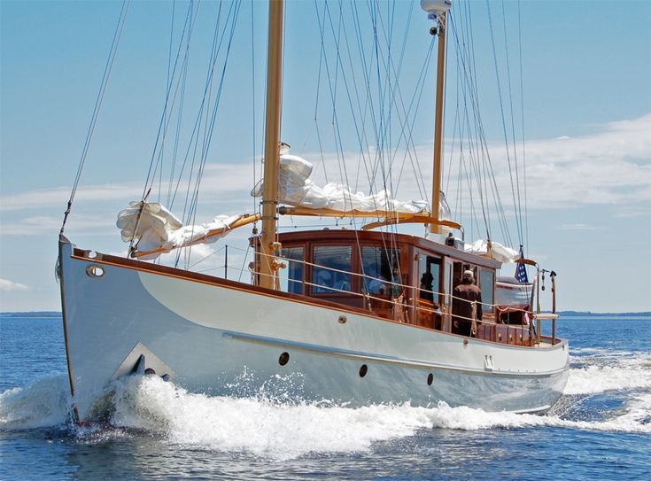 Trade Wind, 1938 Alden 62 motorsailer restored by Rockport Marine