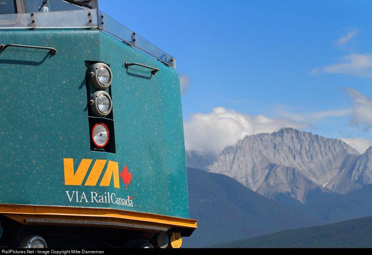 RailPictures.Net Photo: VIA 6414 VIA Rail EMD F40PH-3 at Jasper, Alberta, Canada by Mike Danneman