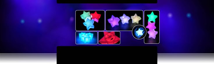 A light up star for my Rainbow Bright costume! Color Changing LED Battery Lamps - Star Shape | Glowproducts.com