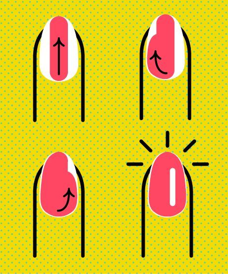 How To Paint Nails - At Home Manicure Tips | An easy, basic infographic on how to paint your nails at home (without making a mess). #refinery29 http://www.refinery29.com/how-to-paint-nails