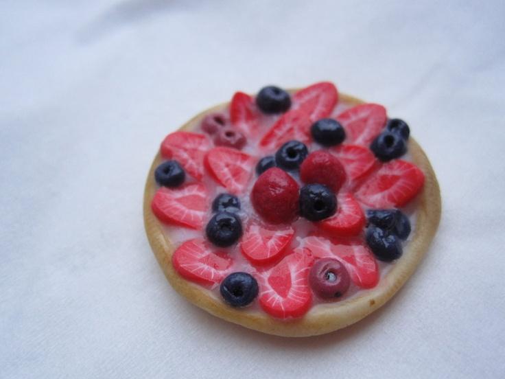 cibo in miniatura - torta ai frutti di bosco  -  miniature food - berries cake, by sleepingdogstore, 9,00 € su misshobby.com