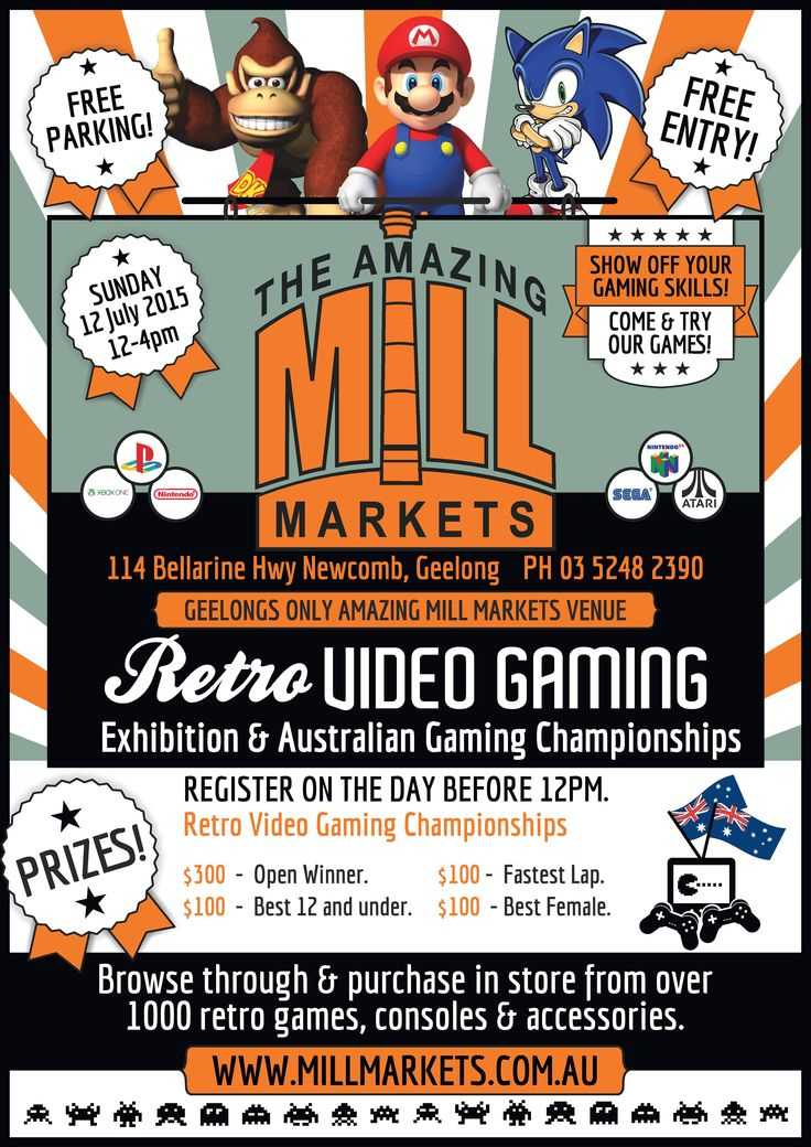 Come and join us this coming Sunday July 12th for a great day of Retro-Gaming at our Geelong(Newcomb) venue.