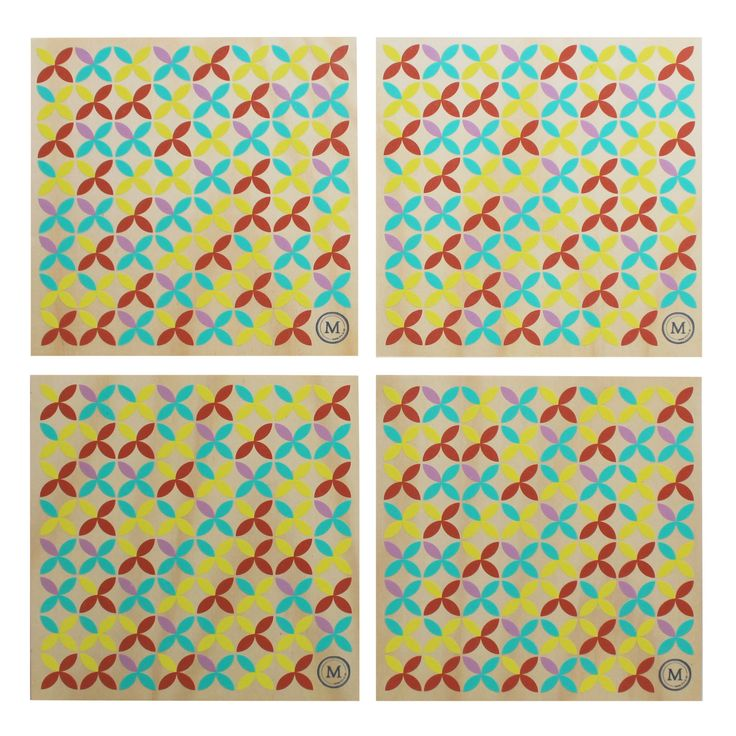 SUMMER TIME - BEACH UMBRELLA These placemats in their fun and playful tones are a great addition to any table setting, be it inside or out! See our website for matching coasters also. Dimensions per Placemat: 300mm (w) x 300mm (h) x 9mm (d) $110 Set of 4 / $185 Set of 8
