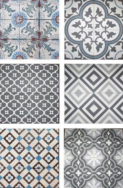 patterned grey tiles