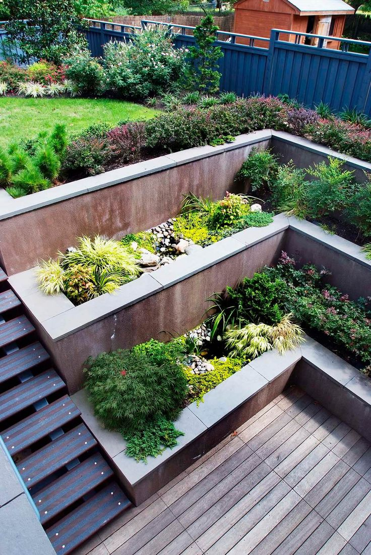 Deck Garden Ideas rooftop gardens design residential roof garden design ideas with deck garden organic theme roof 33 Beautiful Built In Planter Ideas To Upgrade Your Outdoor Space