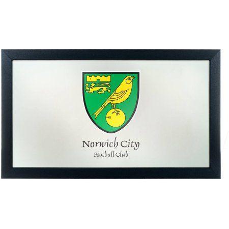 Premier League Norwich City Framed Logo Mirror, Multicolor