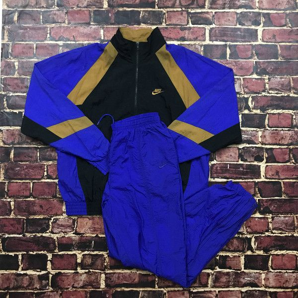 Vintage Nike Tracksuit 90s Tracksuit Full Tracksuit Nike Track Pants... ($125) ❤ liked on Polyvore featuring activewear, activewear jackets, vintage tracksuit, tracksuit jacket, nike sportswear, purple track jacket and vintage track suit