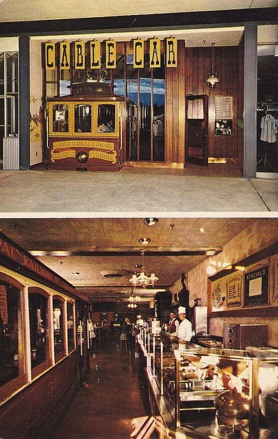The Cable Car Restaurant @ The old Valley Fair mall in San Jose...... Great memories!