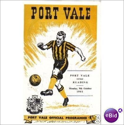 Port Vale v Reading 09/10/1961 Division 3 Football Programme Sale