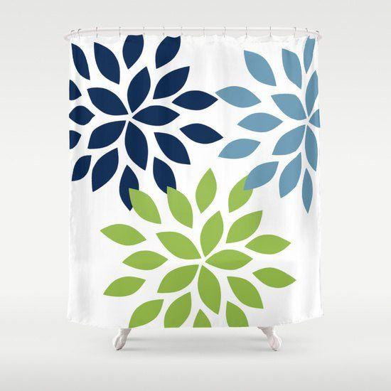 dahlia shower curtain pear navy stone art bathroom accessories home decor modern