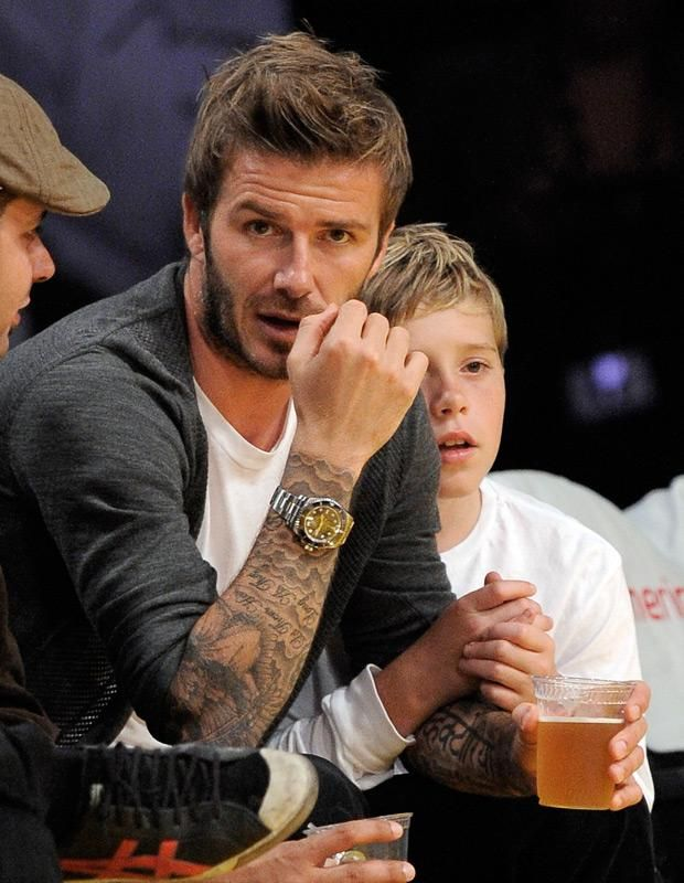 David Beckham Forearm Tattoos