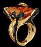White gold, London topaz, Sapphires, Tsavirites, Diamonds Item no: E0137-0/4