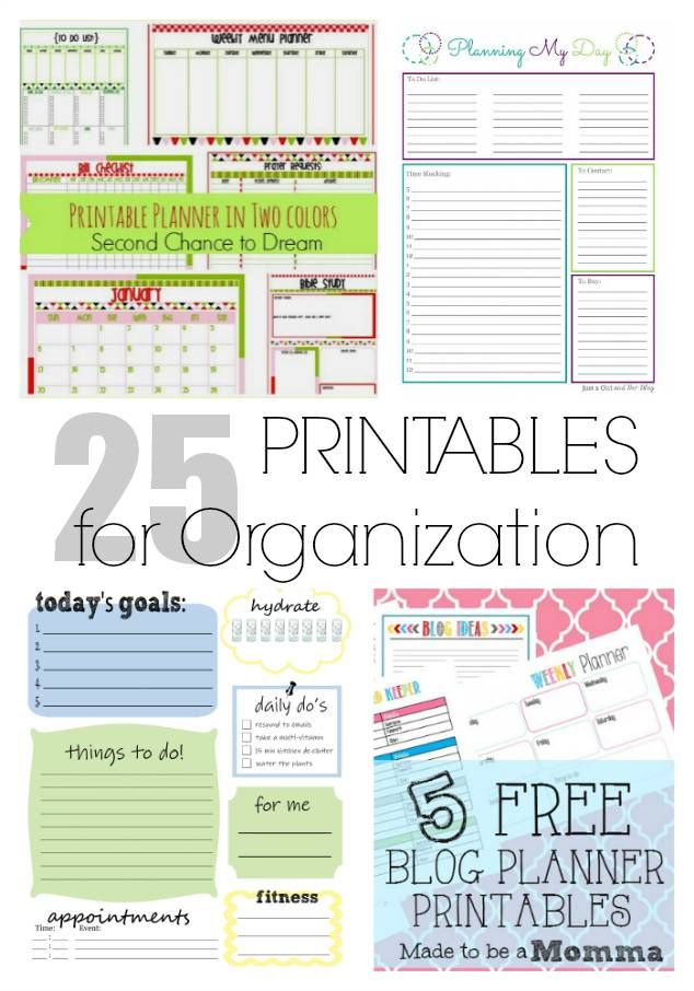 25 PRINTABLES FOR ORGANIZATION FROM LIFEAFTERLAUNDRY.COM