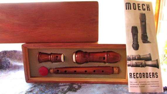 Moeck Recorder West Germany Model 2176 Vintage Wooden Recorder Musical Instrument Soprano Recorder