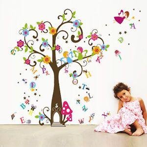 Kind Nette Engel Baum Fee Alphabete Wandaufkleber Aufkleber Tapeten Kinder | eBay