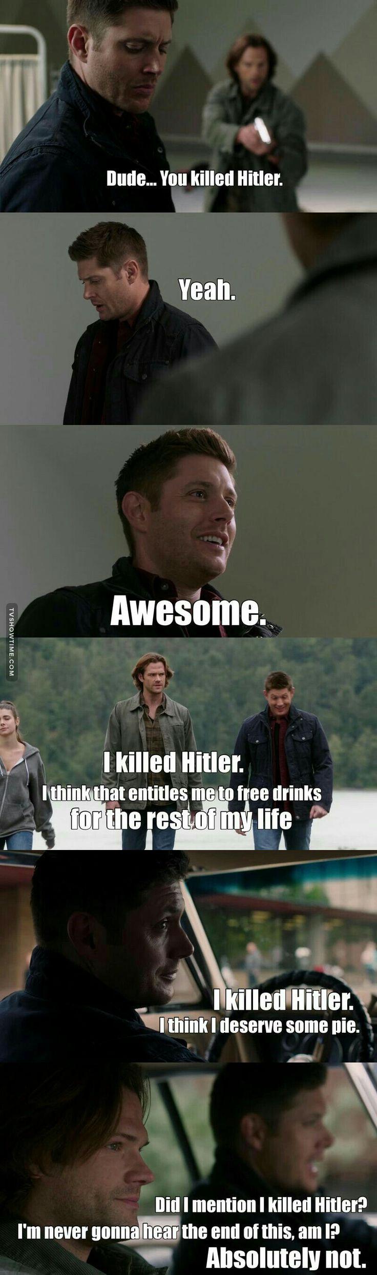 supernatural killed Hitler awesome season 12