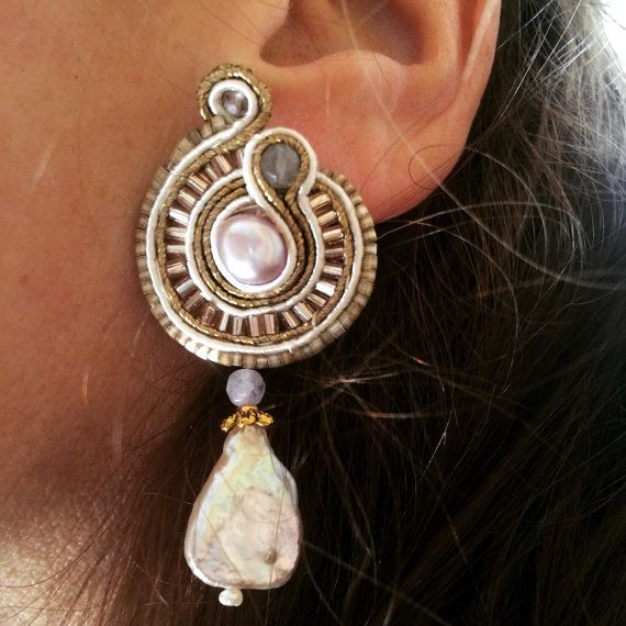 Baroque style soutache earrings. by BijouxaLaCarte on Etsy