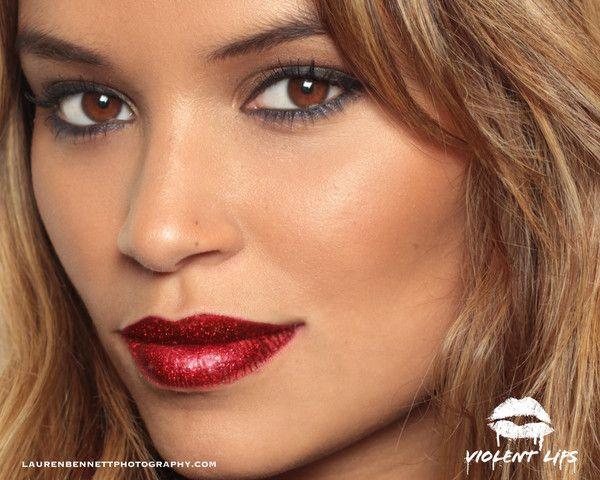 GLITTER LIPS - The Red Glitteratti | Violent Lips