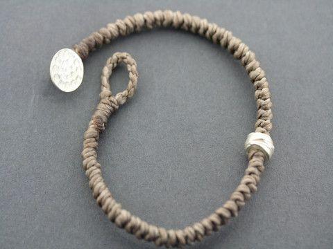 reel bead bracelet - sand